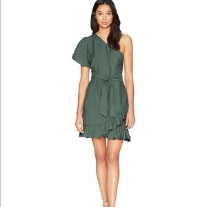 1. State one shoulder ruffle wrap dress